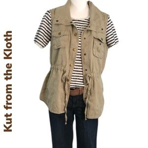 Michi Linen Snap Front Kut from the Kloth Vest